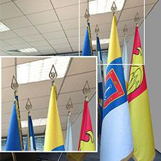 навершие кабинетного знамени на 5 шлагштоков