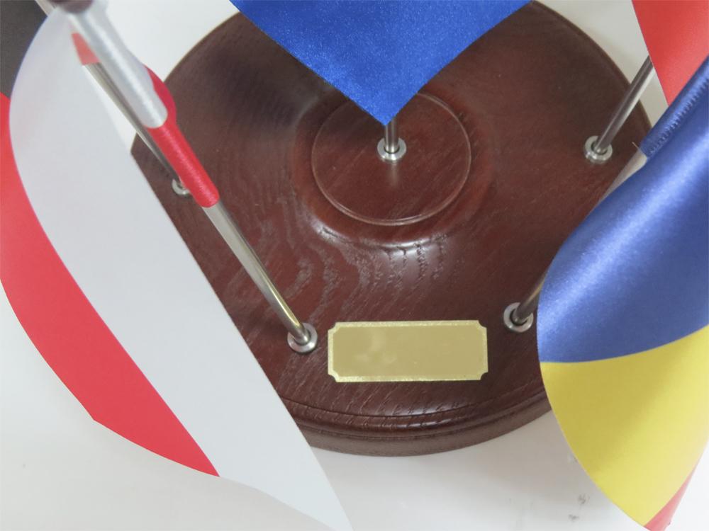 Напольная подставка ПРЕМИУМ под флаг и знамя с флагштоком и навершием