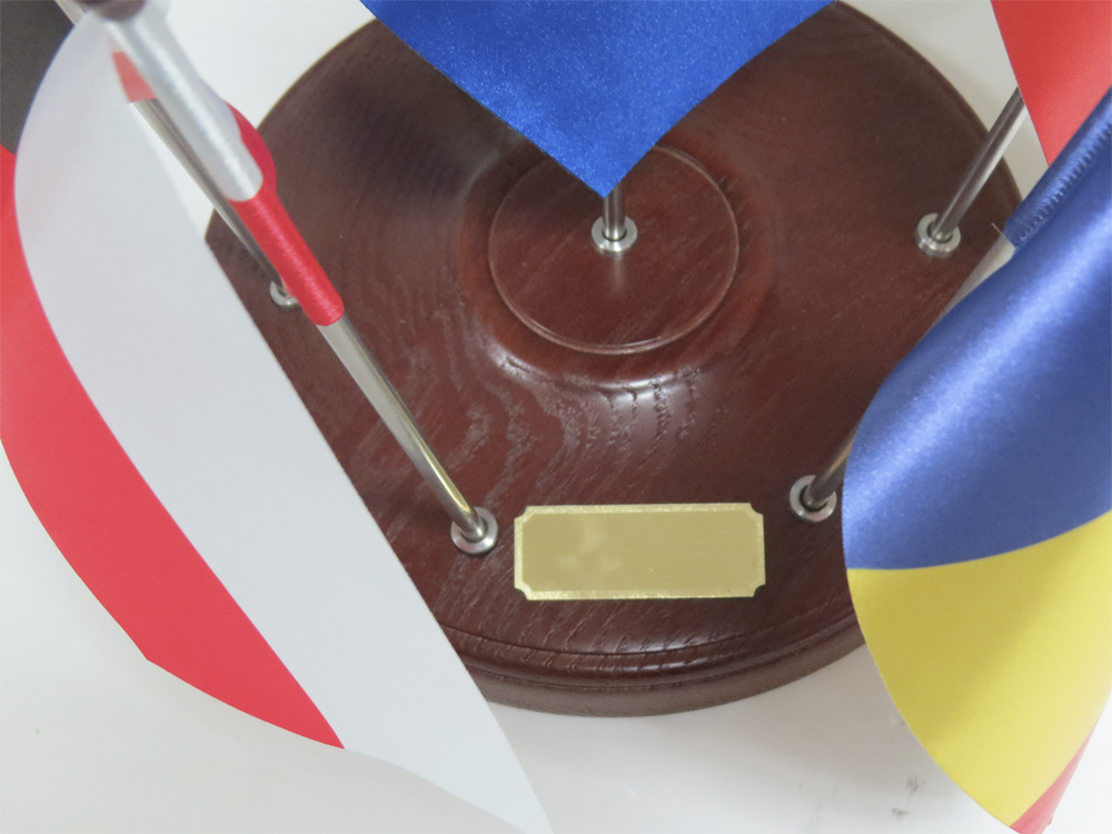 Напольная подставка круглая на 5 флагов D50