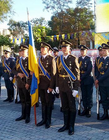 знамена войск Украины