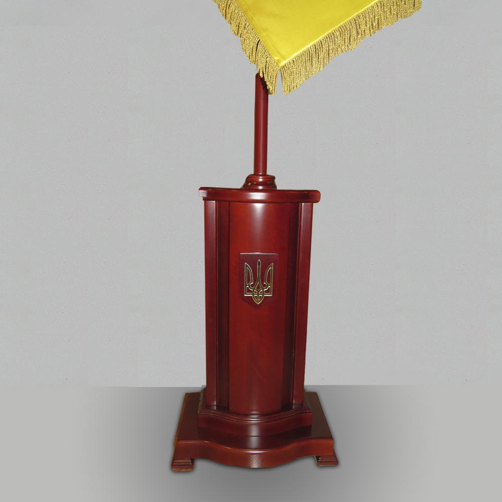 Підлогова дерев'яна тумба ЕЛІТ для знамен та прапорів