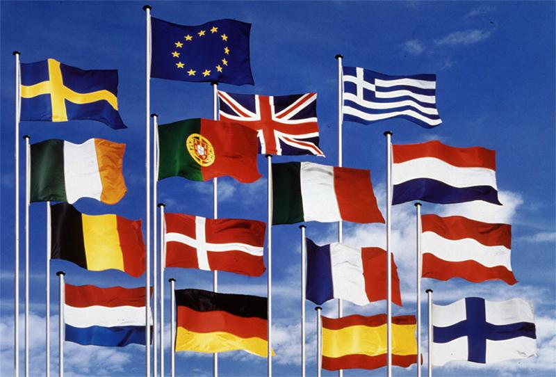 Флаги стран Евросоюза