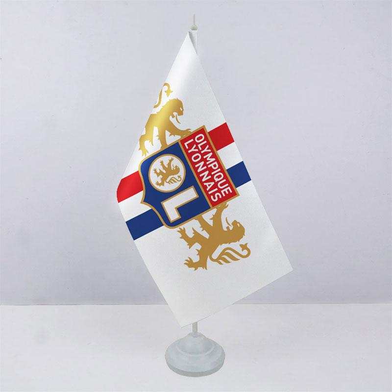 Флажок ФК Олимпик Лион (Olympique lyonnais) на пластиковой подставке