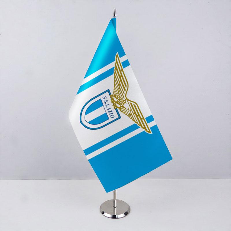 Флажок ФК Лацио (Lazio) на металической подставке