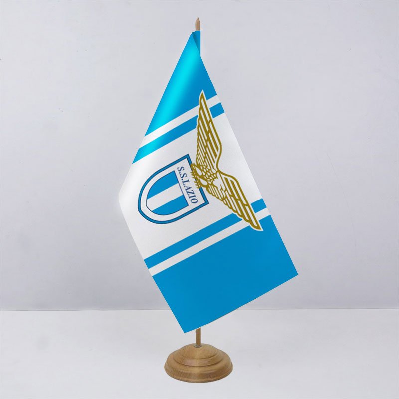 Флажок ФК Лацио (Lazio) на деревянной подставке