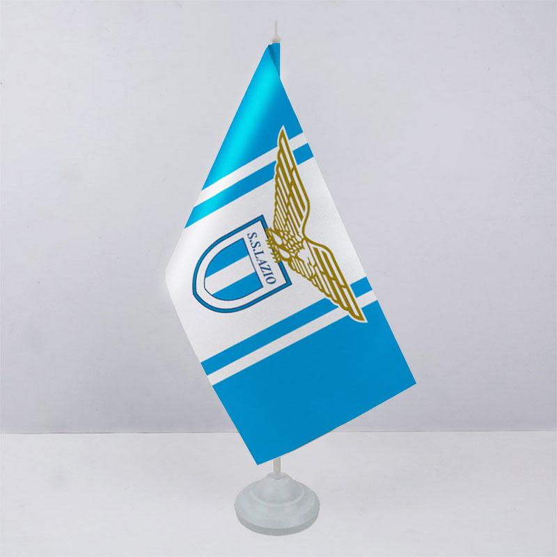 Флажок ФК Лацио (Lazio) на пластиковой подставке
