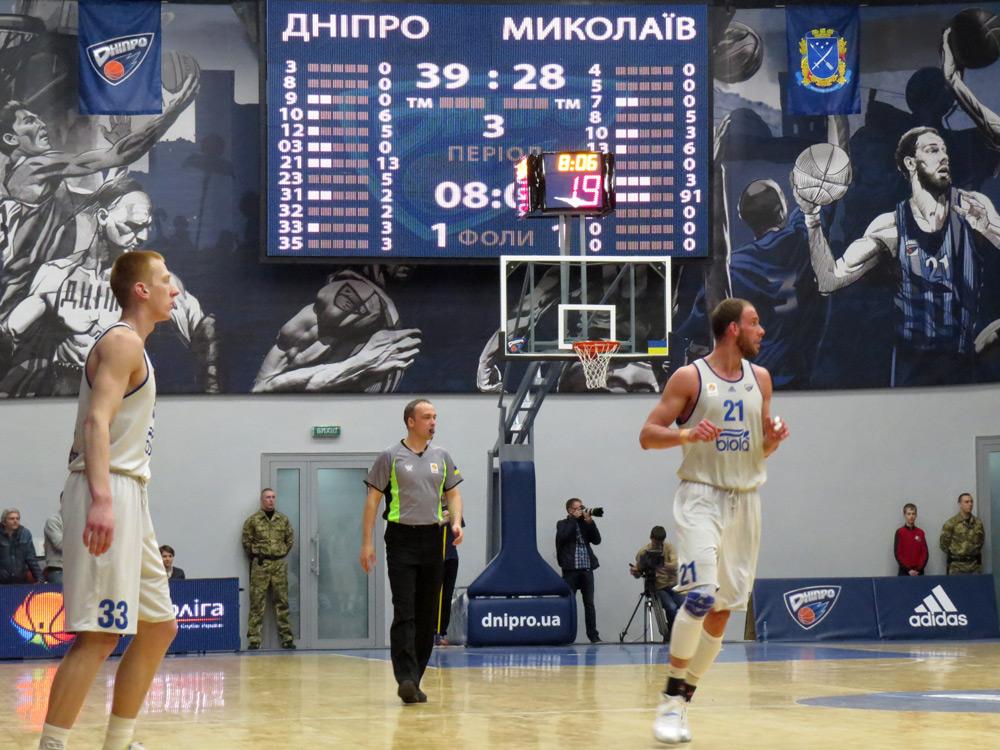 Флаги на чемпионате по баскетболу